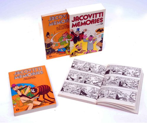 Jacovitti Memories Box Set (Back Cover of the Box) and one open spread